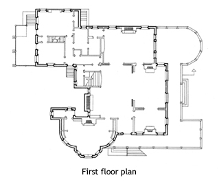 Isaac Bell House floor plan