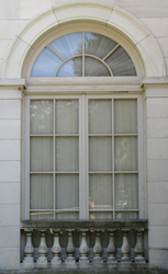 Marble House classical arch accent window