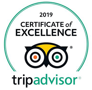 2019 Trip Advisor Certificate of Excellence Badge