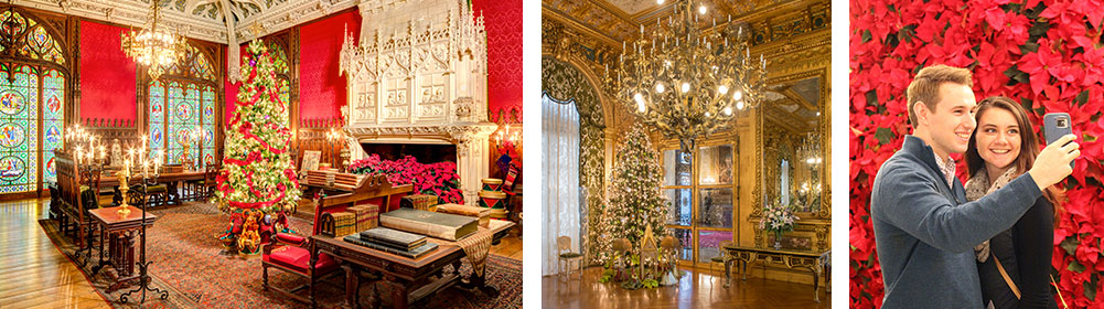 Christmas interior mansions