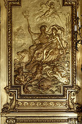 Marble House gold room panel