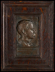 Portrait plaque of David Maitland Armstrong (1877)