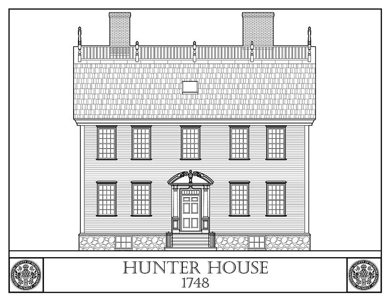 Hunter House coloring page
