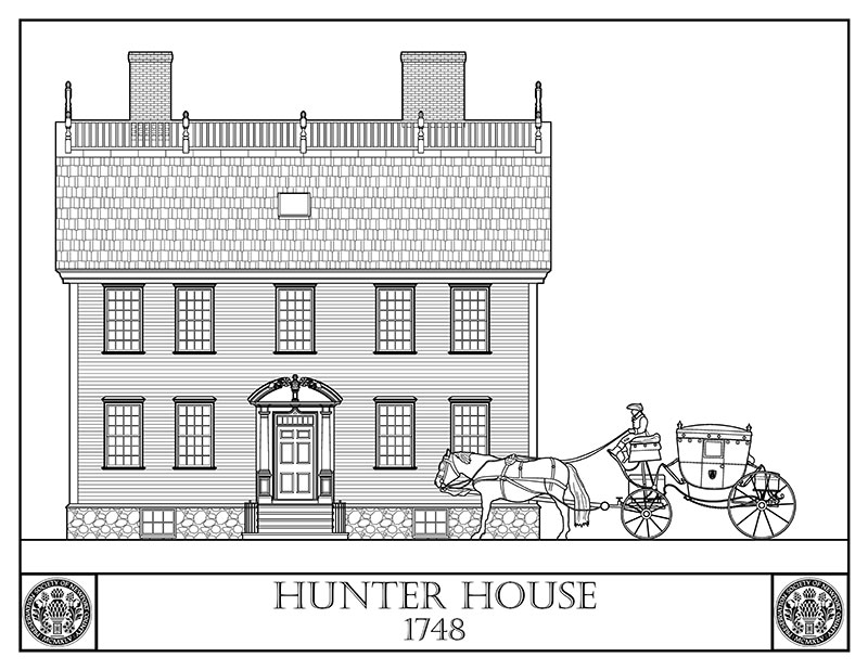 Hunter House-carriage coloring page