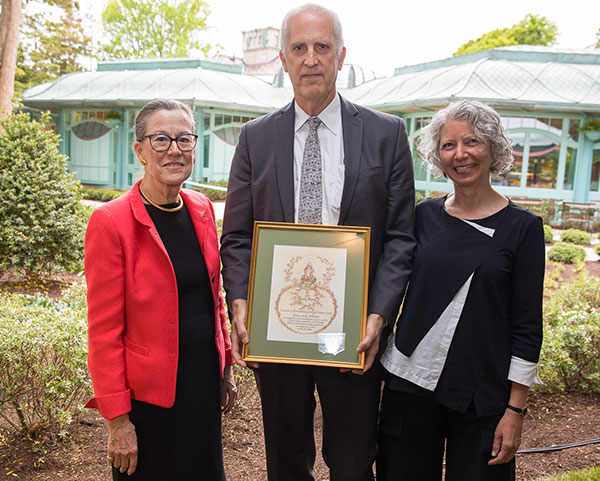 Monty Burnham presented the Laurel Award for Artisanship to Alan Joslin and Deborah Epstein of Epstein Joslin Architects